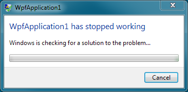 WPF FirstChanceException